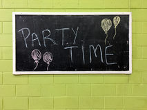 Party Time Sign Royalty Free Stock Photography