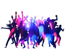 Party Silhouettes Royalty Free Stock Image