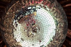 Party time : soft pink pastel disco ball with light reflections Royalty Free Stock Photography