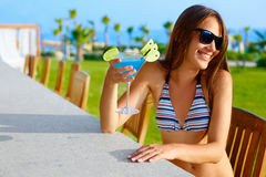 Party time. Woman enjoying summer Royalty Free Stock Images