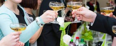 Party toast royalty free stock photo