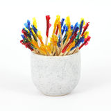 Party toothpicks in small cup Royalty Free Stock Image
