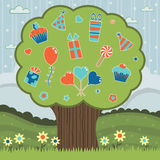 Party tree Royalty Free Stock Image