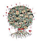 Party tree with ladies and gentlemen for your Royalty Free Stock Photography