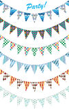 6 Party Triangle Celebration Flags Pattern Royalty Free Stock Photo