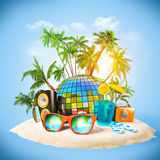 Party. Tropical island. Party at the beach. Travelling, vacation Stock Photo
