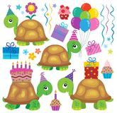 Party turtles theme image 2 Royalty Free Stock Photography