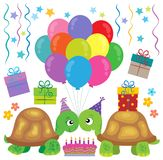 Party turtles theme image 1 Stock Photography