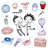 Party - vector doodle set Royalty Free Stock Photos