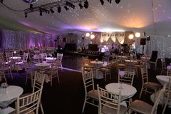 Party venue lounge  stock image