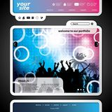 Party Website Template Stock Photography