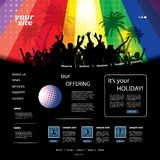 Party Website Template Royalty Free Stock Images