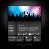 Party Website Template Vector Stock Image