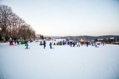 Party winter track Royalty Free Stock Image