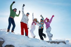Party on winter vacation Royalty Free Stock Image