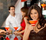 Party woman Royalty Free Stock Image