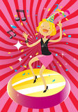 Party woman Stock Images