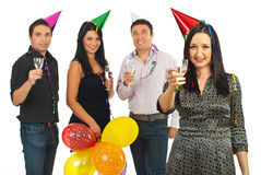 Party woman and her friends Stock Photo