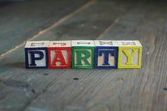 Party wood blocks Stock Image