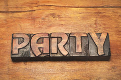 Party wood vintage Royalty Free Stock Photography