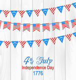 Party Wooden Background in Traditional American Colors Stock Photos