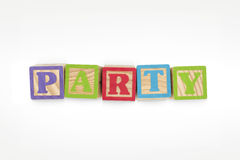 Party Wooden Blocks Stock Image