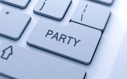 Party word Royalty Free Stock Image