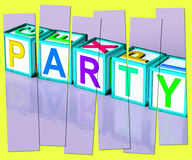 Party Word Mean Function Celebrating Or Drinks Royalty Free Stock Photo