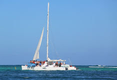 Party yacht in Punta Cana, Dominican Republic Stock Photo