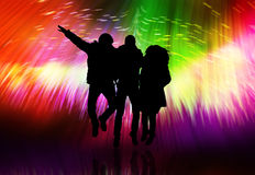 Party. Young dancing people have fun stock illustration