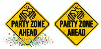 Party Zone Sign royalty free illustration