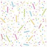 Partyausläufer und Confettihintergrund. Lizenzfreie Stockbilder