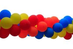 Partyballone auf Weiß Lizenzfreies Stockfoto