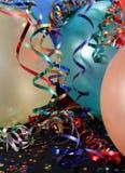 Partyballone mit Farbbändern Lizenzfreies Stockbild