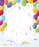 Partyballone und Confetti Lizenzfreie Stockfotos