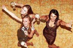 Partybrautjunfern vor der Hochzeit Stockbilder