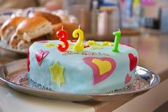 Partycake pour le premier anniversaire de la chéri Photos libres de droits