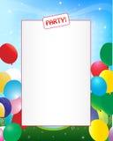 Partyeinladungshintergrund Lizenzfreie Stockfotografie