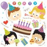 Partyelemente mit Kindern Lizenzfreie Stockfotos