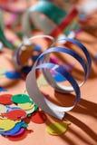 Partyfarbbänder Stockbild