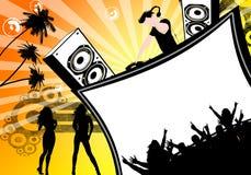 Partyflugblatt Stockbilder