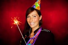 Partyfrau Lizenzfreie Stockfotos