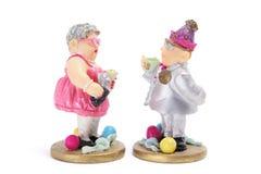 Partygoer Figures. On White Background Royalty Free Stock Image