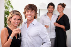 Partygoers obrazy royalty free