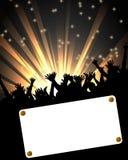 Partyhintergrund mit Fahne Lizenzfreie Stockbilder