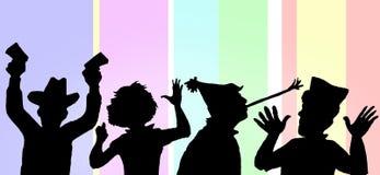 partying люди иллюстрация штока