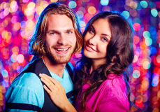 Partying couple Royalty Free Stock Images