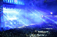 Partying crowd at a concert Royalty Free Stock Images