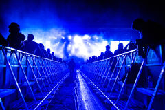 Partying crowd at a concert Stock Images