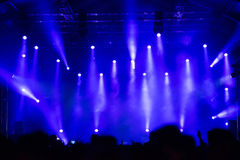 Partying crowd at a concert. Partying crowd at a live electronic dance music concert Stock Image